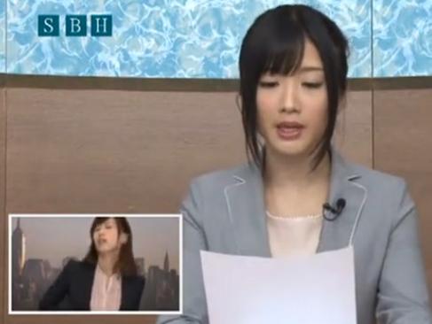 大槻ひびき 他|綺麗な女子アナウンサーがセックスしながら淡々と原稿を読む変な動画