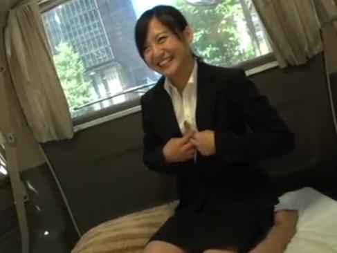 就職活動|リクスーお姉さんをナンパして多少強引にハメる